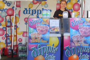 Dippin' Dots Scooping Cart
